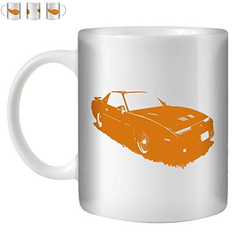 Stuff4 Tee/Kaffee Becher 350ml/Orange/1987 Firebird Trans Am GTA/Weißkeramik/ST10
