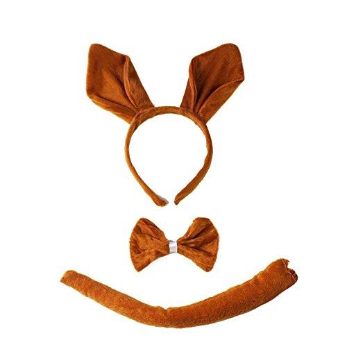 (She 's Shining Kid 's Animal Show Kopfschmuck Känguru 3Sets Performance Requisiten Birthday Party Haarband)