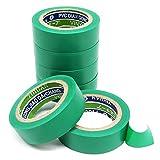 Verde nastro isolante elettrico 6rotolo forte adesivo nastri in PVC, 17mm x 9m