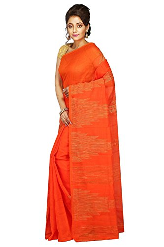 Tjsarees Cotton Saree (TJ500066_Orange_Free Size)