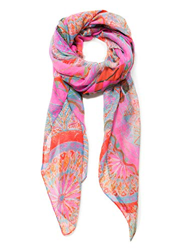 Desigual Damen Schal Rectangle Foulard Soft Mandala Woman PINK, (Nube Rosa 3121), One Size (Herstellergröße: U)