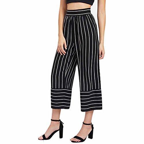UFACE Damen Haremshose Damen Damen Hosen Sommerhosen Damen Hosen Damen Weiße Hose Jeans Damen Sexy Hohe Taille Streifen Print Floral Weites ()