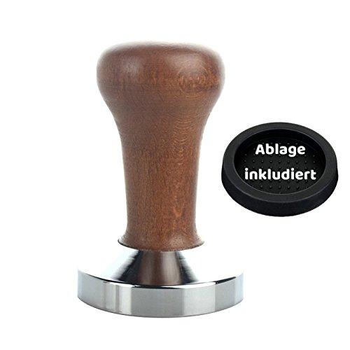 Practimondo Kaffee Tamper Set (58 mm) Kaffeemehlpresser mit Zubehör für überzeugenden Espresso...