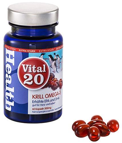 Krill Öl Omega 3 stücke | Sehr hohe Konzentration an EPA und DHA aus dem Marktführer Superba Boost | Gut für Herz und Leber (Health Claim) | 30 Tage Packung | 500mg Softgel Kapseln | MSC zertifiziert