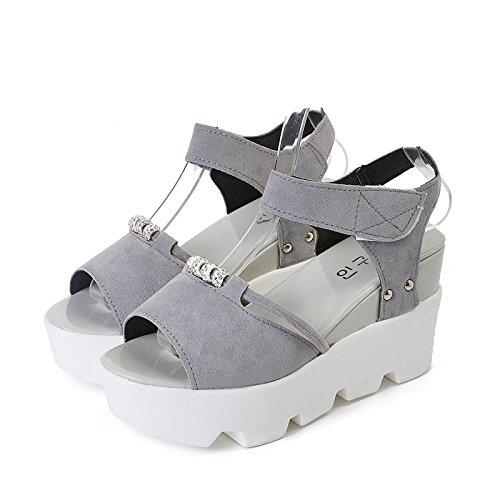 Sandalen 36 amp;gk nbsp;women's Xy Damenschuhe Grey Sommer qApCSyfxw