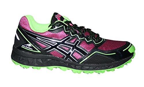ASICS Sportschuh Trail Gel-Fujisetsu rosa/schwarz/grün EU 35.5 (US 5) (Damen-lauf-spikes)