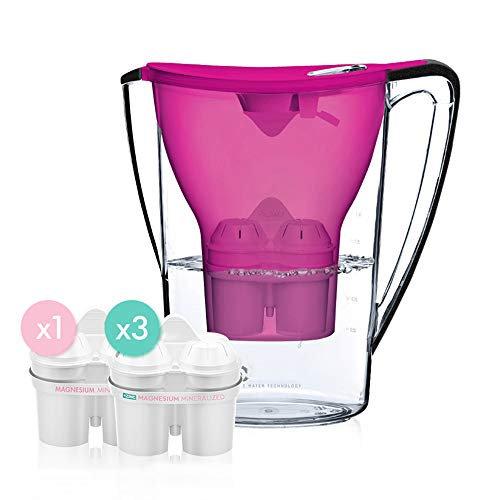 krug, sauberes Wasser 1,5 l Zink-Magnesium-Ionen-Filter, tragbarer Haushaltswasserreiniger,Lila ()