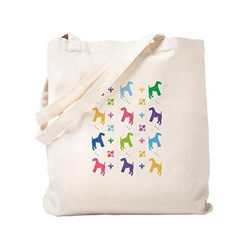 CafePress–Airedale Terrier Design–Leinwand Natur Tasche, Reinigungstuch Einkaufstasche Tote S khaki