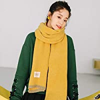 CXIGUA Damen Schals Winter Verdickung Warme Lange Reine Farbigen Schals Umschlagtücher Studenten