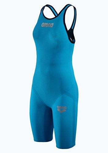 Arena W Pwsk Carbon Pro Mk2 Fbslo Bañador 1 Pieza, Mujer, Azul (Cyan), 32