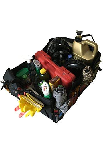 2 Stück Große Faltbare Kofferraumtasche Autotasche für KFZ Auto LKW PKW - Utensilientasche - extra groß mit Tragegriff - Tasche Bag & Aufbewahren & Verstauen auch für Camping & Wohnmobil