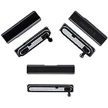 Fologar Tapas Laterales Micro USB SD SIM para Sony Xperia Z1 C6902 C6903 L39H Negro