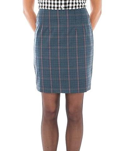 Relco Femmes Tweed à Carreaux Jupe Ajustée 60S Mod Skin Ska Skinbryd - Bleu, UK 18 - 36