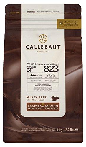 Callebaut Select Milch 823 Schokolade Callets 1 kg (Schokolade-backen-form)