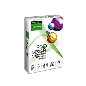 PAPYRUS Lot de 4 Ramettes 125 feuilles papier blanc ProDesign 280g, A4 laser couleur