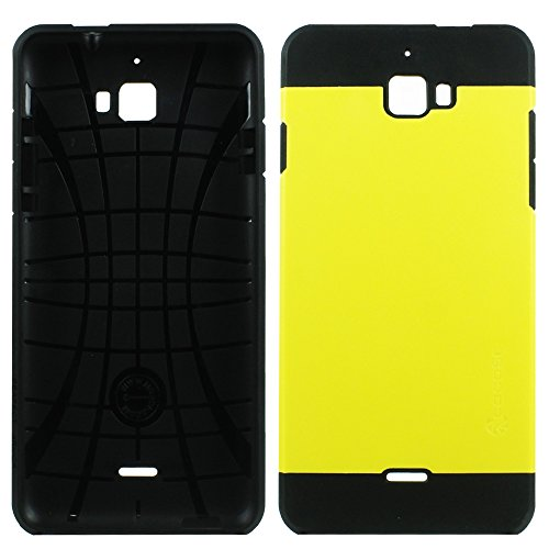 Heartly Cocose Hybrid Slim Dual Layer Hard Rugged Armor Bumper Back Case Cover For Micromax Canvas Nitro A310 A311 Dual Sim - Sweet Yellow