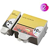 AA+inks Compatible Ink Cartridges Replacement for 10 Black & Colour Compatible Ink Cartridges For Easyshare ESP office printer (2inks - 1x 10B 1x 10C)