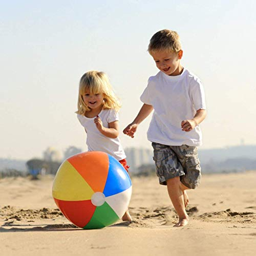 atable 24 Rainbow Beach Ball and Swimming Pool Party Ball - 12 pieces by Toy Cubby ()