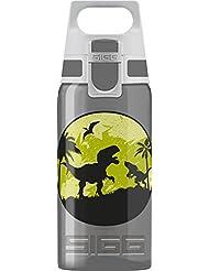 Sigg Viva One Dinos, Kinder Trinkflasche, 0.5 L, Polypropylen, Bpa Frei, Dunkel Grau Kinderflasche, Anthracite, 0.5 Liter