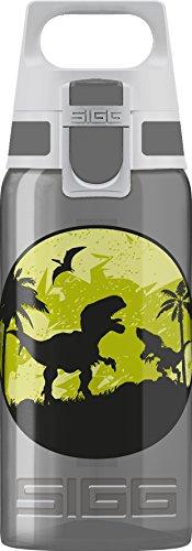 SIGG VIVA ONE Dinos Kinder Trinkflasche (0.5l), schadstofffreie Kinderflasche mit auslaufsicherem Deckel, einhändig bedienbare Trinkflasche für Kinder