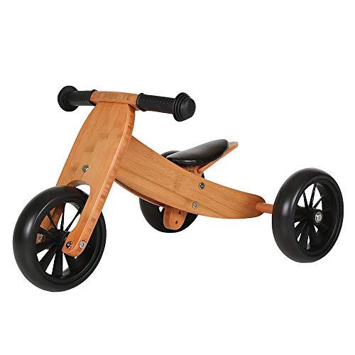 Bandits & Angels Lauflernrad / Laufrad aus Holz 4-in-1 Smartbike ab 1 Jahre (Bambus)