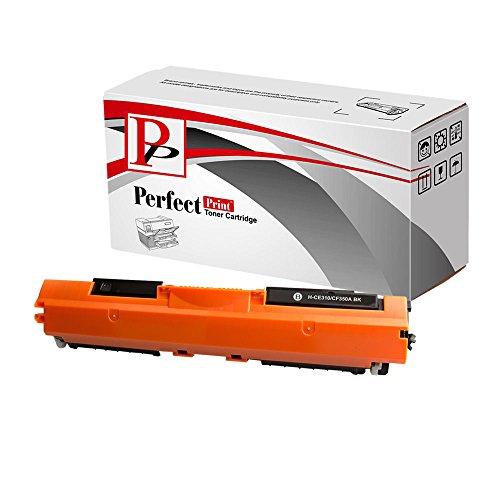 PerfectPrint - Negro Compatible HP CE310A 126A cartuchos de tóner HP Color LaserJet CP1025 Impresora CP1025nw M175a M175nw Pro TopShot 100 Pro 175a Pro M275 M275nw