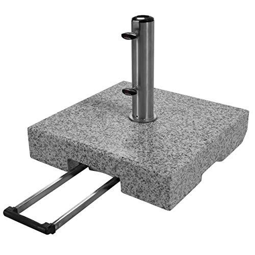 Doppler Active Trolley Granitsockel - 70 kg mit ausziehbarem Zuggriff und Rollen - Für Sonnenschirme - Rostfrei