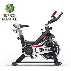 TRÉBOL ADVANCE Bicicleta de Spinning Volante 18 Kilos Pantalla LCD, Resistencia Variable. Regulable.