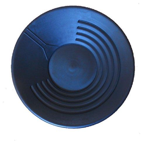 Goldwaschpfanne von Lapis aus schwarzem Kunststoff, Durchmesser: 38 cm - Gold Pan by Lapis, black plastic, diameter: 38 cm.