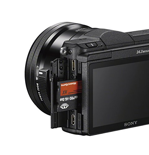 Sony Alpha A5100L 24.3MP Digital SLR Camera (Black) with 16-50mm Lens (ILCE-5100L)