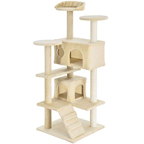 Produktabbildung von Sam`s Pet Kratzbaum Bonnie | mittelhoch | Kratzmöbel mit Sisal, Höhle, Liegefläche & Leiter | beige | Katzenbaum Katzenzubehör