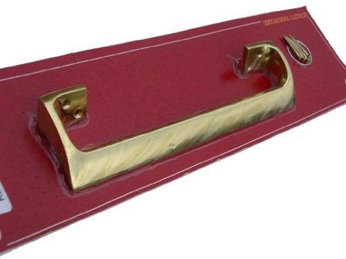 Securit - Maniglia a spinta per porta, in ottone lucidato, ovale, 225 (Ottone Ovale Porta)