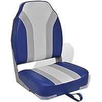 2x ® Bootssitze Grau-Weiß Bootssitz Boot Sitze Kunst-Leder Steuer Stuhl PRO.TEC