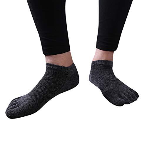 IFOUNDYOU Zehensocken, Sneaker Socken Herren, FüNf-Finger-Socken, SöCkchen Sport-Trainer Laufen Walking Outdoor-Toe-Socke 1 Paar Socken Mit Zehen Elastische Baumwolle Socken