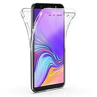 Microsonic 18414 Samsung Galaxy A7 2018 Kılıf 6 tarafı tam full koruma 360 Clear Soft Şeffaf