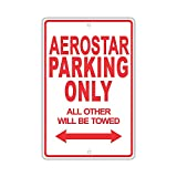 Eugene49Mor Ford Aerostar Parking Only All Others Will Be Trow Ridiculous Funny Novelty Garage - Placa de Aluminio de 20,32 x 30,48 cm