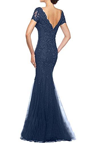 Donna Ivydressing sessualmente kraftool EF-linea Chiffon un'ampia vestito da sera abito da festa Dunkelblau