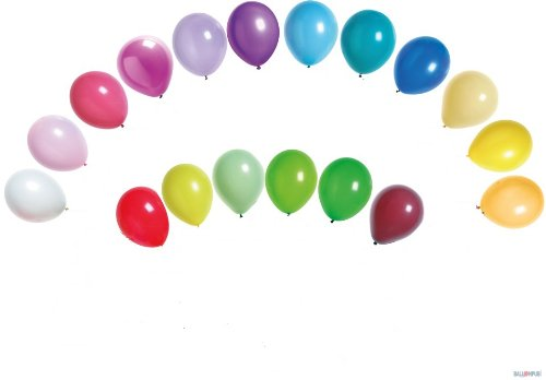 100 ballons de baudruche multicolores ronds opaques diamètre 32cm- Fabrication française BALLON PUB