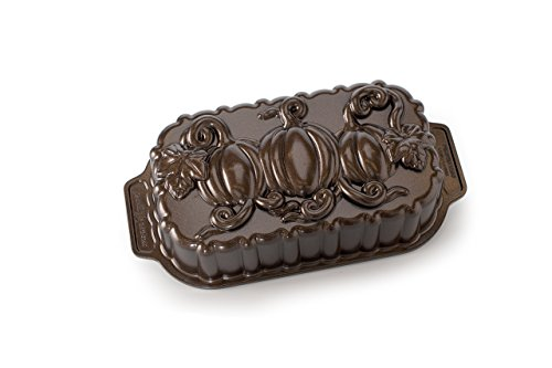 Nordic Ware Pumpkin Patch Loaf Pan, Bronze Nordic Ware Non Stick Pan