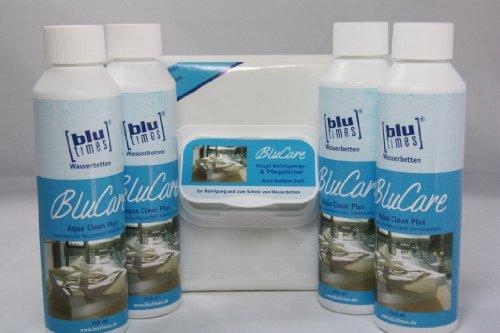 blutimes-wasserbett-konditionierer-aqua-clean-plus-4er-sparpack-mit-vinyl-reinigungstucher