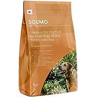 Amazon-Marke: Solimo Komplett-Trockenfutter für ausgewachsene Hunde (Adult) mit viel Truthahn und Erbsen, 1er Pack (1 x 5 kg)