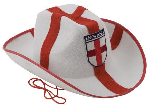 Pack von 12 St George ENGLAND Glitzern Cowboy Hüte für Euro 2012/ Olympische Spiele/ diamantenes Jubiläum