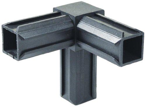 GAH-Alberts 426422 XD-Rohrverbinder - 90° und einem weiteren rechtwinkeligen Abgang, Kunststoff, schwarz, 30 x 30 x 2,0 mm / 10 Stück