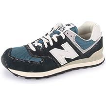 New Balance 574 ML574DNA Zapatillas de Ante y Malla para Hombre Azules Marino y Grises - 40½