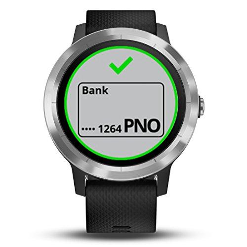 Garmin Vivoactive 3 Smartwatch con GPS, Nero/Argento