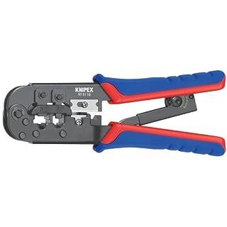Knipex 97 51 10 SB Crimpzange für Westernstecker Länge: 260 mm Schwarz, Blau, Rot