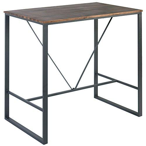 Indhouse Plat – Table Haute Restaurant Loft Style Industriel en métal Bois Cove