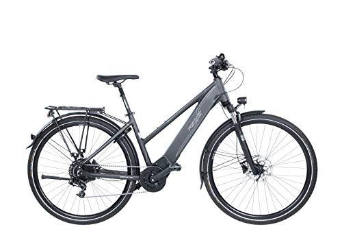 FISCHER Damen - E-Bike Trekking VIATOR 6.0i (2020), grau matt, 28 Zoll, RH 44 oder 49 cm, Brose Drive S Mittelmotor 90 Nm, 36 V Akku im Rahmen