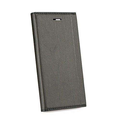 Élégant Portefeuille Housse Étui à rabat pour Apple iPhone 6/6S – Housse Coque Etui Cover Book Case bois Look