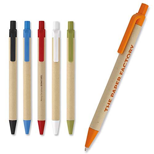 50 St. Bio-Kugelschreiber | Karton + Mais Bedrucken/Werbeartikel/Werbung Maxilia